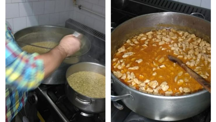 FOTO. Jandarmii au gătit pentru oamenii străzii