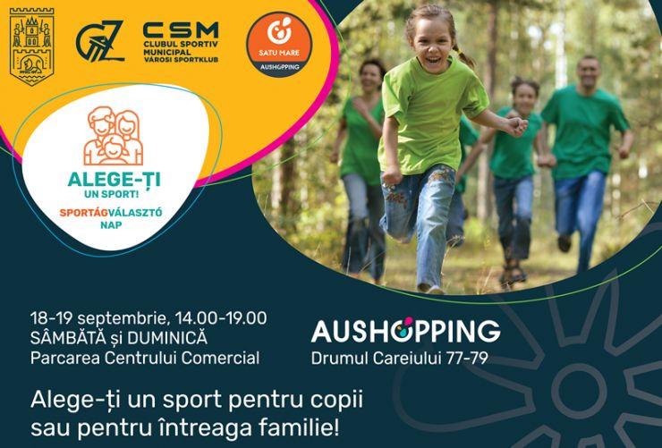 """În acest weekend, la Satu Mare: """"Alege-ți un sport"""", eveniment dedicat familiilor și copiilor"""