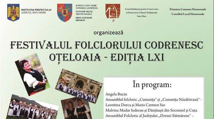"""Festivalul Folcloric Codrenesc """"Oțeloaia"""", la a 61-a ediție"""