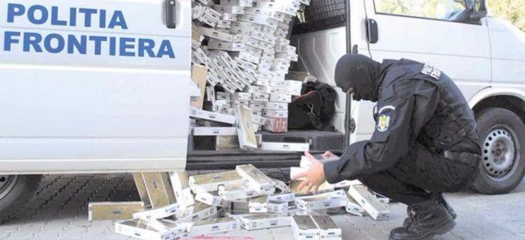 Captură de mii de pachete de țigări de contrabandă