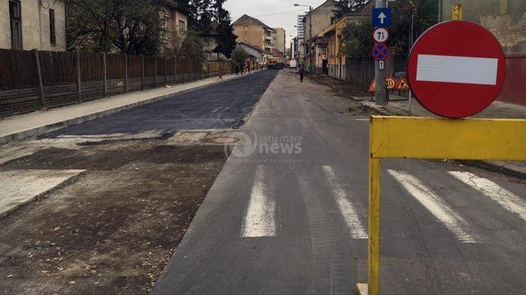 Strada Nicolae Golescu rămâne închisă până la finalizarea reabilitării