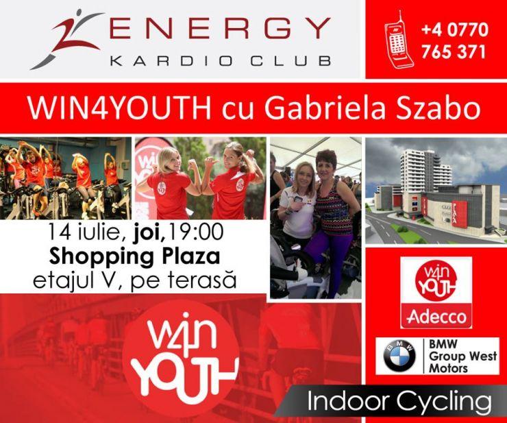 Win4Younth Satu Mare | Adecco România și Energy Kardio Club te invită să pedalezi alături de Gabriela Szabo
