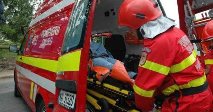 Bărbat rănit într-un accident rutier