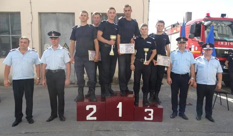 Pompierii sătmăreni, cei mai buni din regiunea de nord-vest a României!