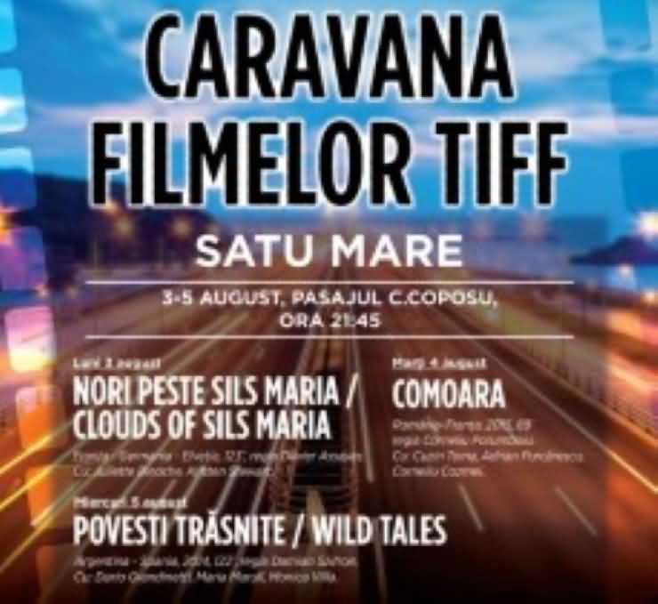 Filme în aer liber în pasajul Corneliu Coposu