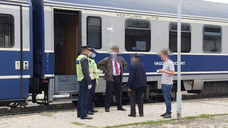 COVID 19 | Acțiune a polițiștilor în trenurile de călători și stațiile de cale ferată