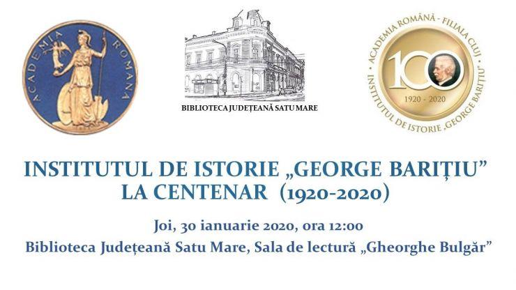 """Institutul de Istorie """"George Barițiu"""". Un veac de existență în slujba națiunii române și a cercetării științifice"""