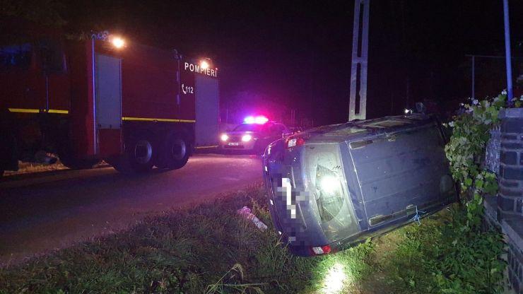 FOTO I Accident cu două victime în Gherța Mare