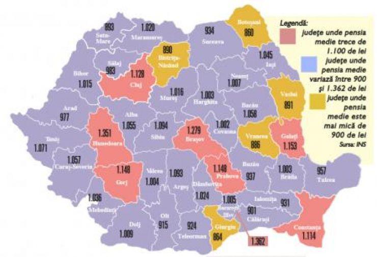 Harta foamei la vârsta a treia | Satu Mare, printre județele cu cele mai mici pensii