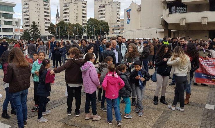 Manifestare pentru referendum, la Satu Mare