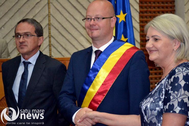 Primarul municipiului Satu Mare, Kereskenyi Gabor, a depus azi jurământul