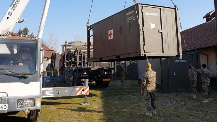 Armata română face un spital mobil containerizat de nivel ROL 2