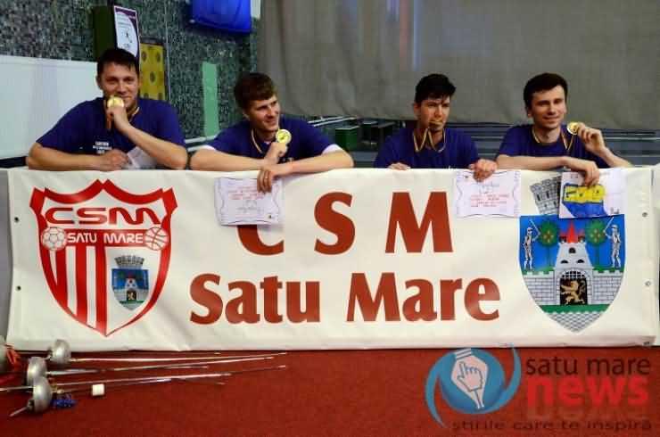 Spadă. Aur pentru CSM Satu Mare în Superliga Națională de spadă (Foto & Video)