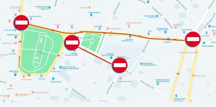 Restricții de circulație în centrul municipiului Satu Mare