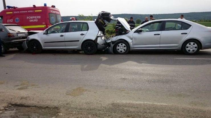Un bărbat din Gherța Mică a provocat un accident în lanț, pe DN1C