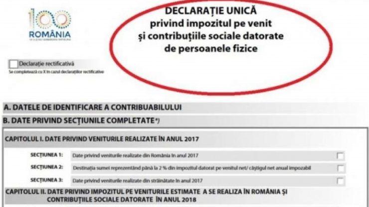 16 iulie, termenul limită pentru depunerea declarației unice