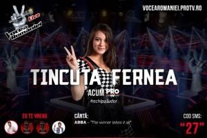 """Tincuța Fernea a părăsit concursul """"Vocea României"""" ca o """"profesionistă"""""""