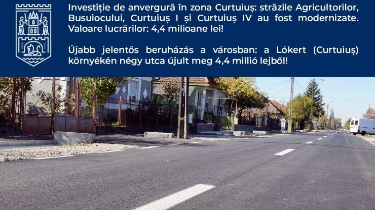 Lucrări de anvergură în zona Curtuiuș