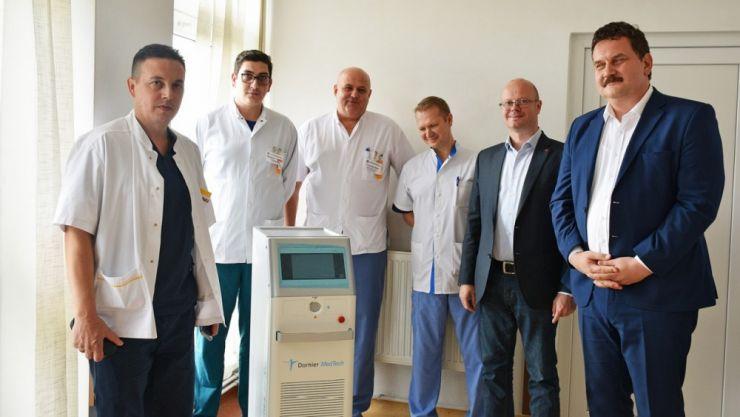 Aparat de ultimă generație la secția de Urologie de la Spitalul Județean Satu Mare
