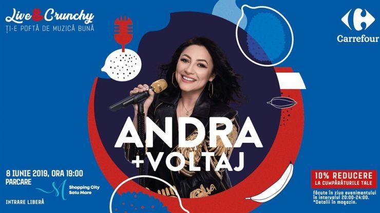 Andra și Voltaj, în concert la Satu Mare