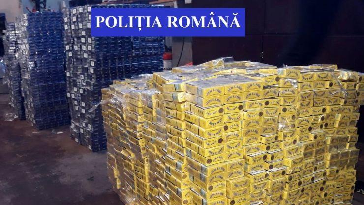Ucrainean prins cu peste 150.000 fire țigarete de contrabandă