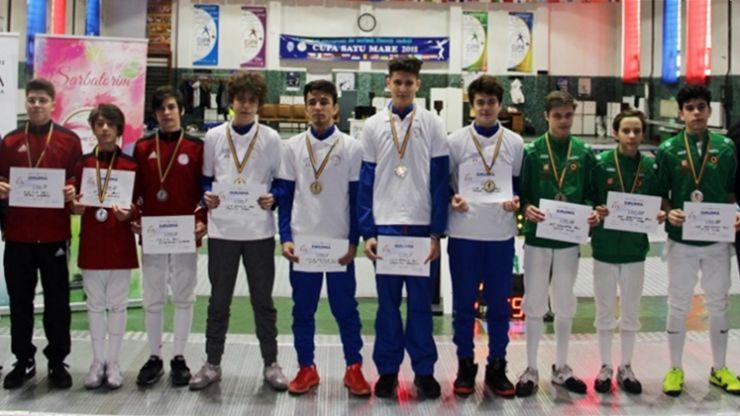 Satu Mare | CSA Steaua a câștigat proba masculină pe echipe a Campionatului Național de floretă cadeți
