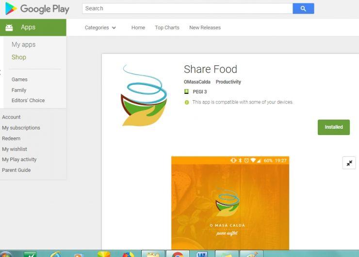 S-a lansat oficial aplicaţia clujeană ShareFood