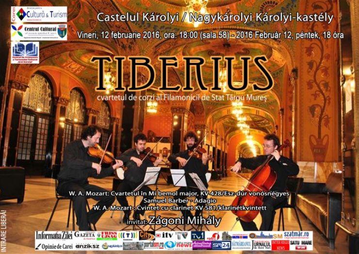 Cvartetul de coarde Tiberius din  Târgu Mureș va concerta la Castelul din Carei