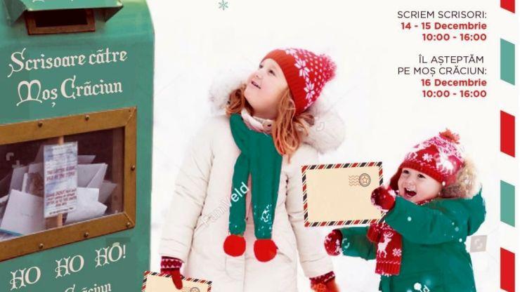 Scrie-i lui Moș Crăciun și Moșul îți aduce cadoul în Centrul Comercial Aushopping Satu Mare