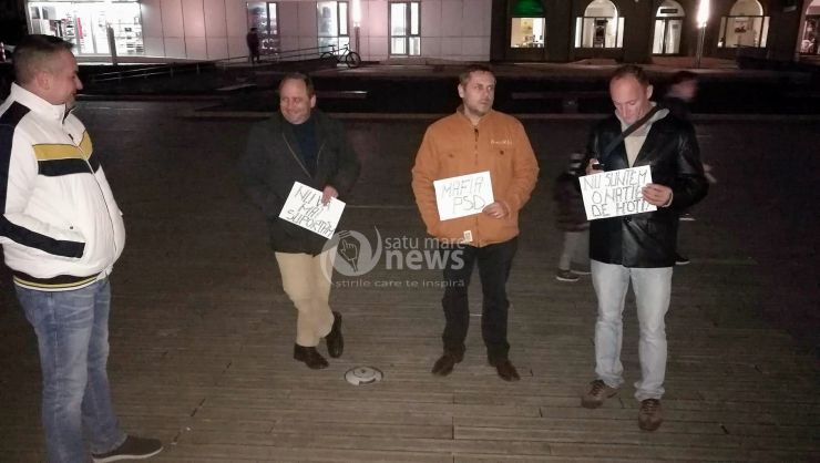 Protest față de modificarea legilor Justiției și la Satu Mare
