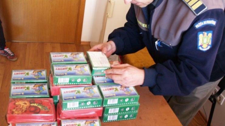 Poliţiştii de frontieră au confiscat 5.000 de petarde