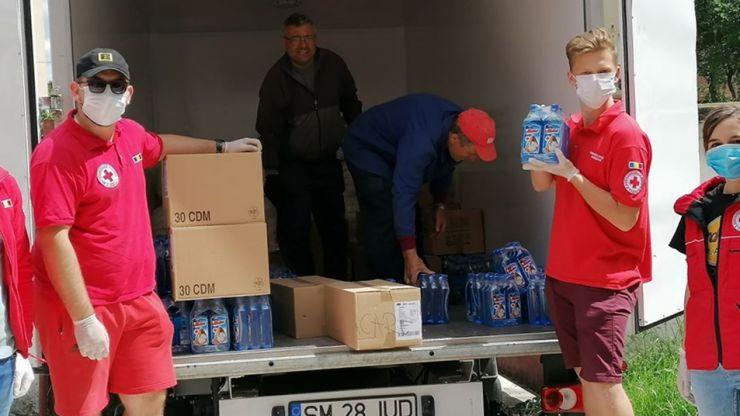 Ajutor pentru spitale și persoane vulnerabile oferit de Crucea Roșie Satu Mare
