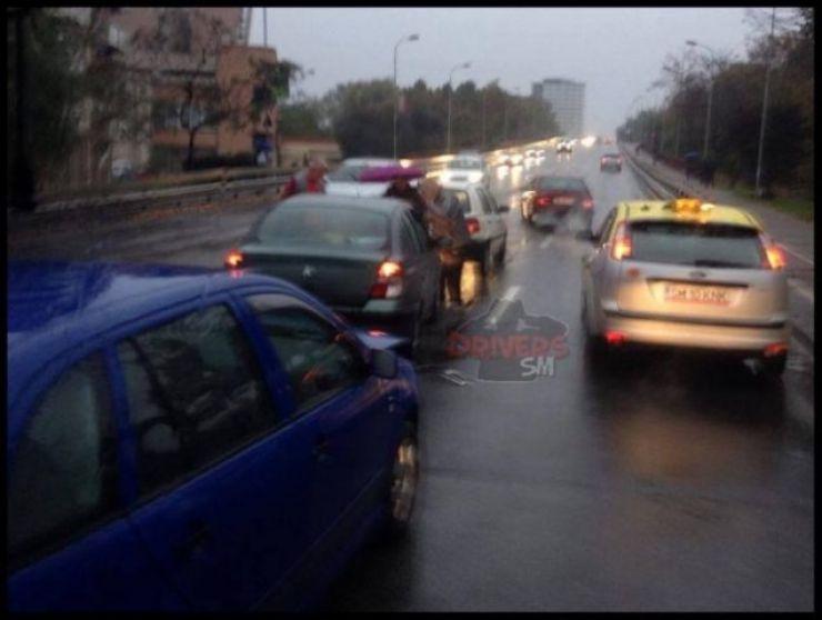 Accident pe podul Golescu