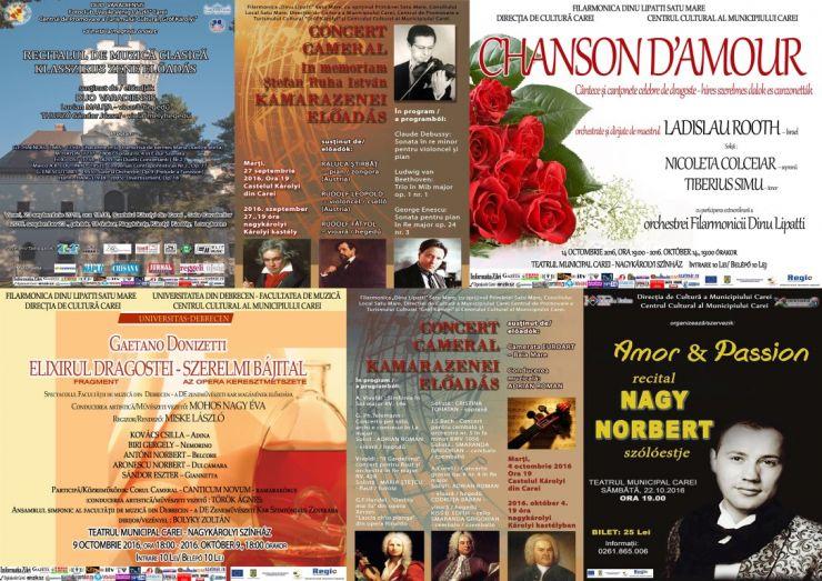 O serie de evenimente muzicale, la Carei