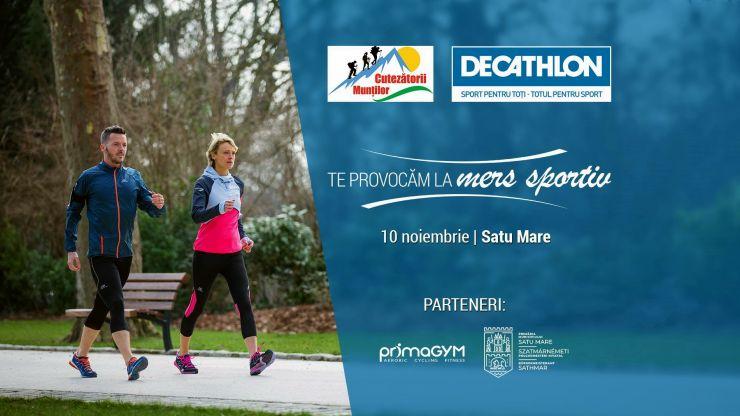 Decathlon alături de Asociația Cutezătorii Munților te provoacă la mers sportiv