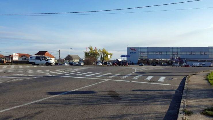 Sens giratoriu provizoriu la ieșirea din Parcul Industrial Sud