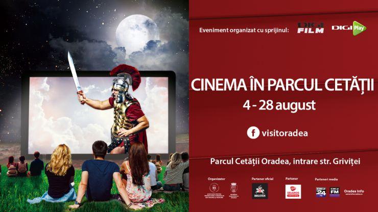 O lună întreagă de filme în Parcul Cetății din Oradea