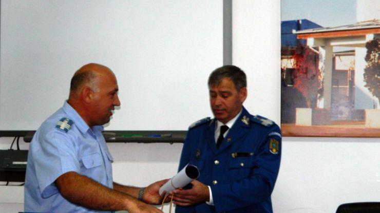 Conducere nouă la Jandarmeria Satu Mare, după pensionarea inspectorului șef, colonel Vasile Bocea
