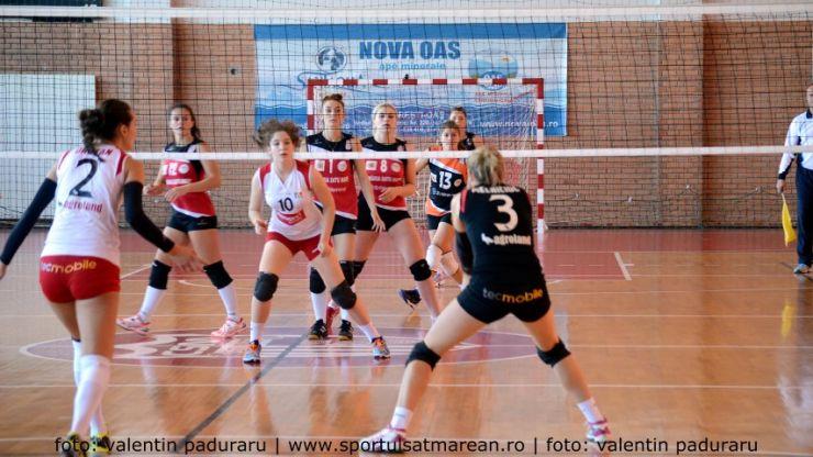 Volei | CSM Satu Mare joacă mâine pe terenul liderului, ACS Agroland Timișoara