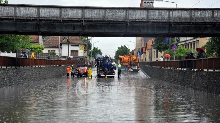 Video | Ploile abundente au creat probleme în municipiul Satu Mare