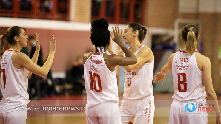 Baschet | Victorie la 45 puncte pentru CSM Satu Mare, în deplasare la Olimpia CSU Brașov