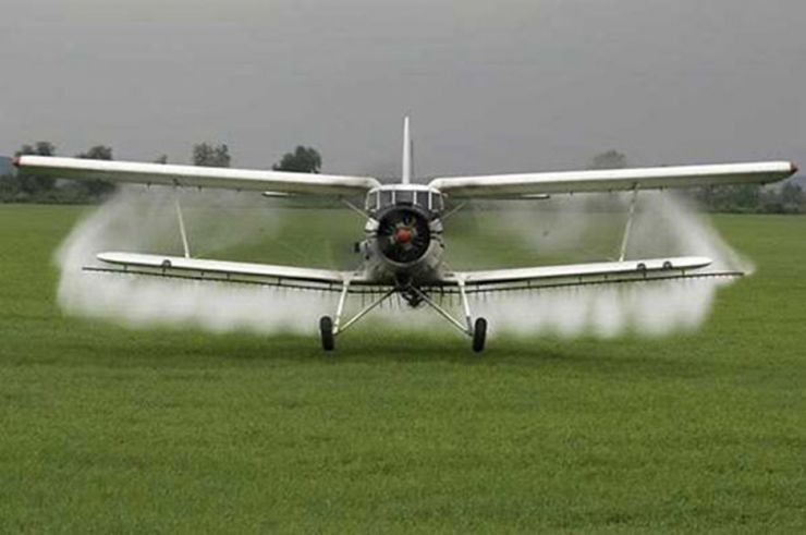 Dezinsecție aeriană la Satu Mare