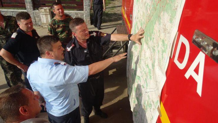 Exerciţiu pentru antrenarea structurilor de intervenţie în caz de accident de aviaţie civilă în zona Culmea Codrului