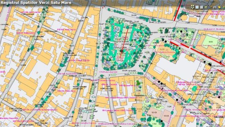 Conform Registrului Spaţiilor Verzi, în municipiul Satu Mare sunt 221,70 ha de spații verzi