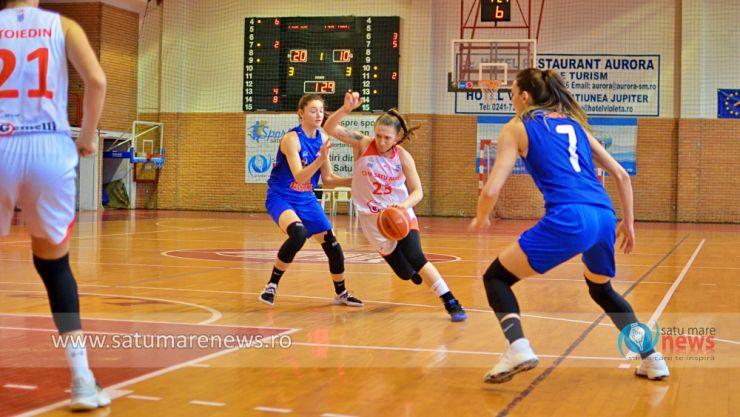 Baschet | CSM Satu Mare s-a impus în meciul restant cu CSM Târgoviște