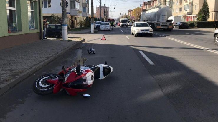 Accident în Carei. Un bărbat a ajuns în stare gravă la spital