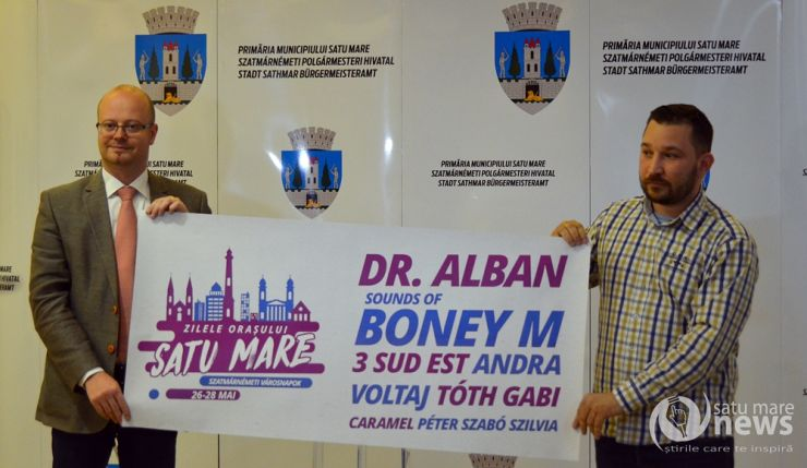 Boney M, Dr. Alban, Andra, 3 Sud Est, Caramel și Peter Szabo Szilvia vin la Zilele Orașului Satu Mare