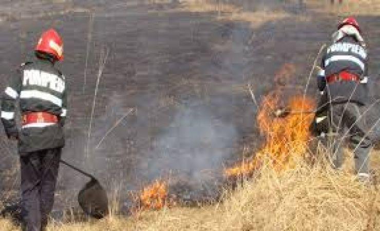 Incendiu la intrarea în localitatea Tiream