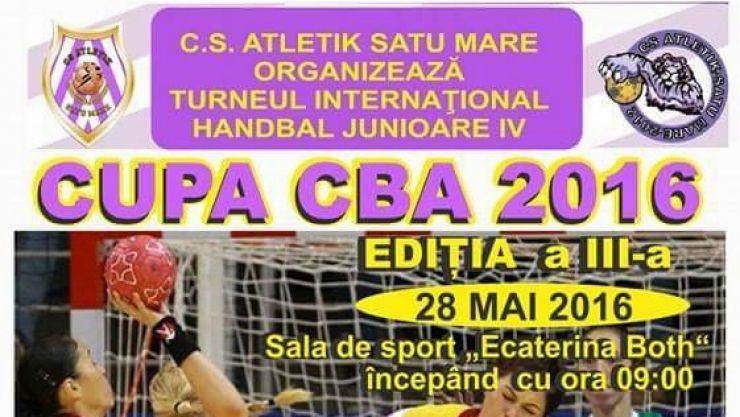 """Handbal. Sâmbătă, în Sala LPS """"Ecaterina Both"""" va avea loc """"Cupa CBA"""", ediția a III-a"""