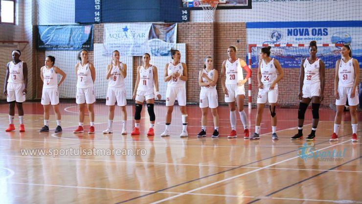 Baschet | CSM Satu Mare a învins la o diferenţă de 35 puncte Olimpia CSU Brașov